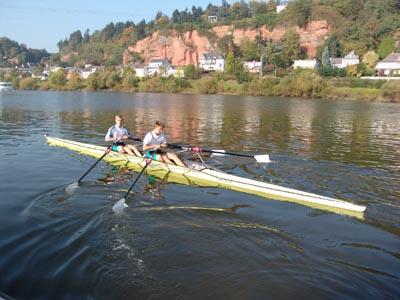 Boot und Ruderer