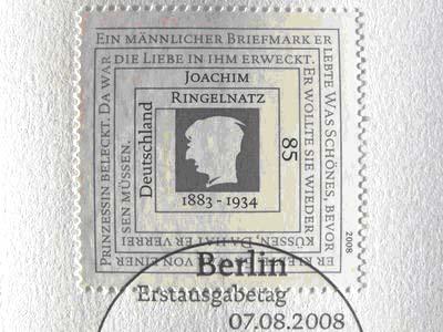 «Ein männlicher Briefmark» ...